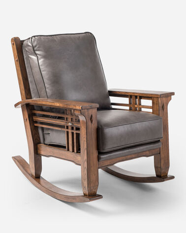 STAGECOACH LEATHER ROCKER IN BLACK HEATHER