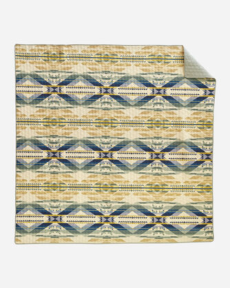 FOSSIL SPRINGS PRINTED COVERLET IN IVORY MULTI