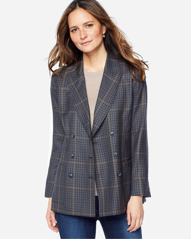 PRESTON DOUBLE-BREASTED WOOL BLAZER, BLUE PLAID, large