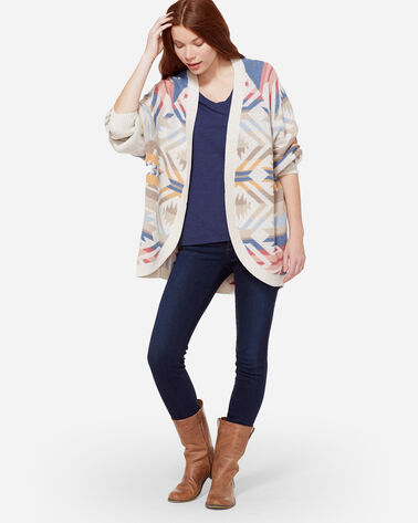WHITE SANDS COCOON CARDIGAN, ANTIQUE WHITE, large