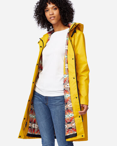 WOMEN'S EUREKA WATERPROOF COAT IN YELLOW