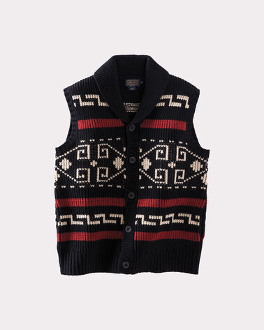WESTERLEY SWEATER VEST, BLACK/CREAM, large