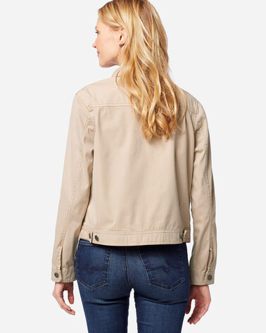 ADDITIONAL VIEW OF WOMEN'S CHINO TWILL JACKET IN TAN