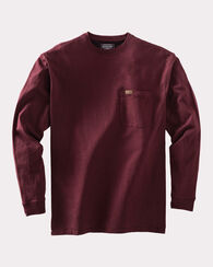 DESCHUTES LONG-SLEEVE TEE, RUSSET RED HEATHER, large