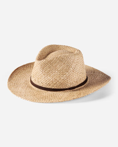 OUTBACK RAFFIA HAT, NATURAL, large