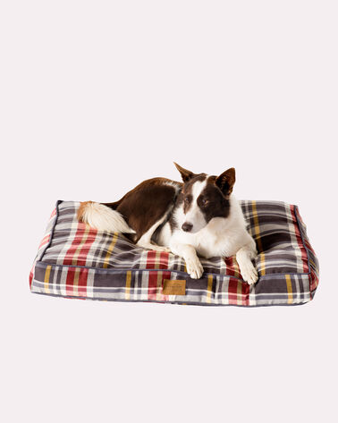 MEDIUM PLAID DOG BED