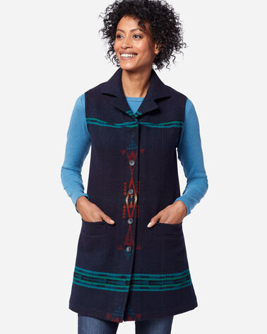 ADDITIONAL VIEW OF WOMEN'S JUNEAU VEST IN THUNDERBIRD NAVY