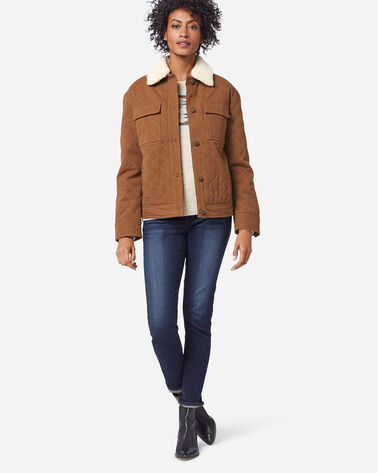 ADDITIONAL VIEW OF WOMEN'S SIDNEY QUILTED BARN COAT IN WHISKEY