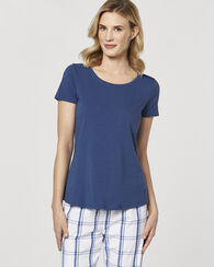 STRETCH COTTON TOP, BLUE, large