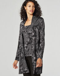 LONG PAISLEY CARDIGAN, GREY PAISLEY, large