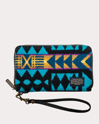 LA PAZ SMART PHONE WALLET, TURQUOISE, large