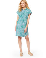 SUNNYSIDE TWO POCKET SHIRT DRESS IN TEAL