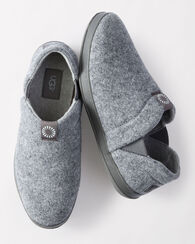 HANZ WOOL AND FLEECE LINED SLIPPERS, METAL, large