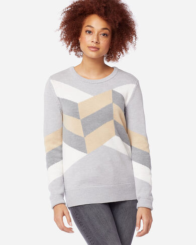 WOMEN'S GEO MERINO SWEATER