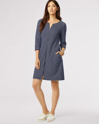 LOLA STRIPE DRESS, TARTAN NAVY/WHITE, large
