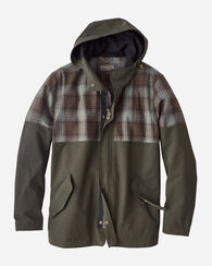 PENDLETON SIGNATURE CARVER HOODED COAT, OLIVE BROWN, large
