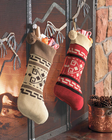WESTERLEY KNIT STOCKING, RED, large