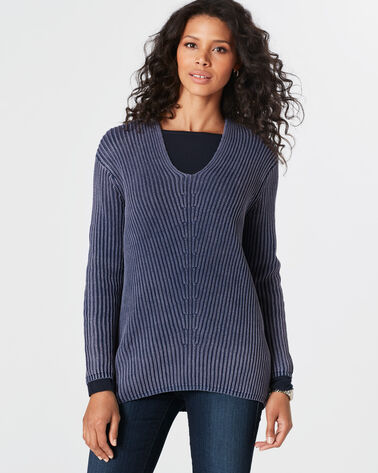 MINERAL WASH SWEATER, NAVY, large