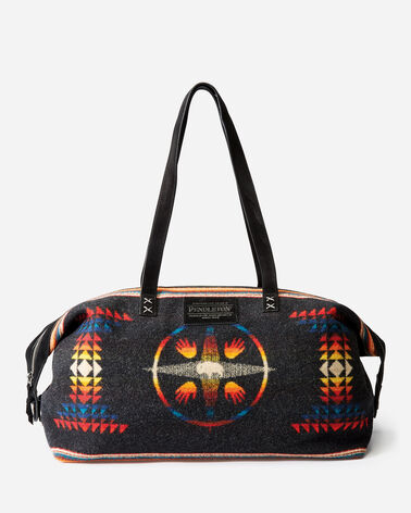 BIG MEDICINE WOOL WEEKENDER BAG IN BIG MEDICINE CHARCOAL