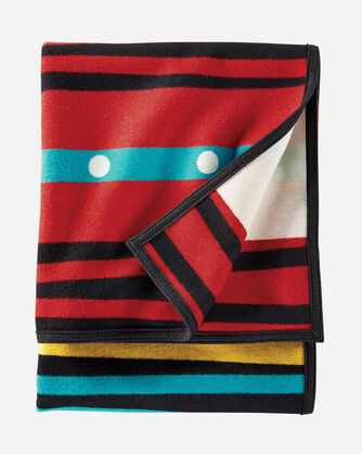 PATHWAY BLANKET, BLACK MULTI, large