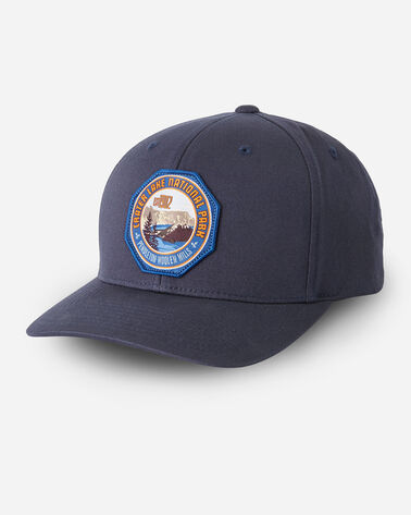 NATIONAL PARK HAT IN NAVY CRATER LAKE