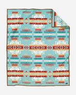 CHIEF JOSEPH BLANKET IN AQUA