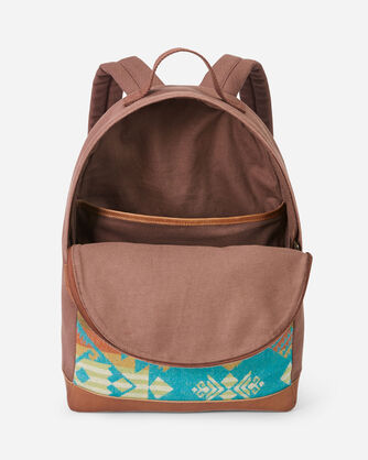 ALTERNATE VIEW OF JOURNEY WEST CANVAS BACKPACK IN TURQUOISE
