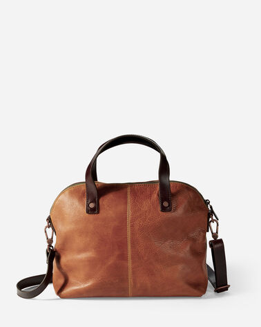 LEATHER BAG, TAN, large