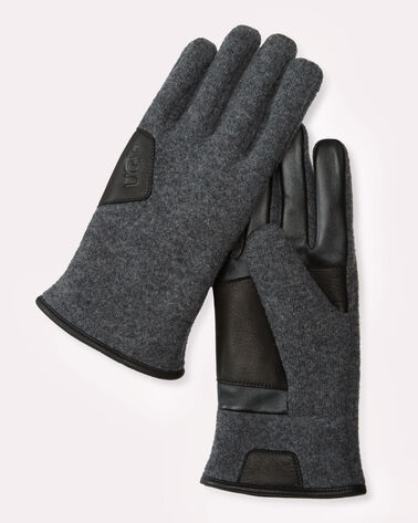 FABRIC SMART GLOVES, CHARCOAL, large