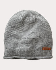 CASHMERE ROLL EDGE HAT, SOFT GREY HEATHER, large