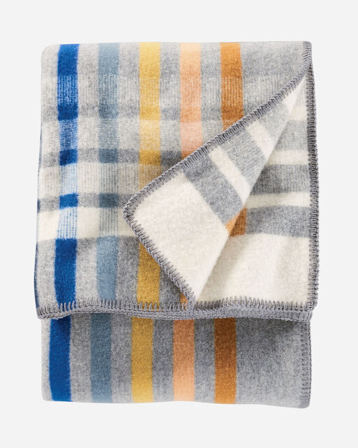 OSLO EVENING THROW IN GREY MULTI PLAID