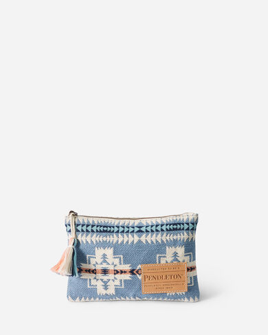 CHIEF JOSEPH ZIP POUCH IN TURQUOISE HEATHER