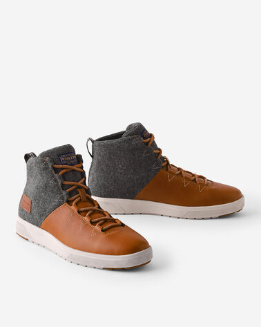MEN'S TRONA PARK HIGH TOP SNEAKERS IN CARAMEL CAFE