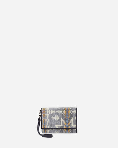 PLAINS STAR TRIFOLD SMARTPHONE WALLET IN GREY