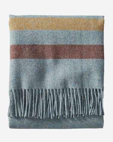 ALTERNATE VIEW OF ECO-WISE WOOL FRINGED THROW IN SHALE STRIPE