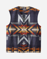 MEN'S JACQUARD WOOL VEST IN NAVY PLAINS STAR