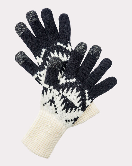 SPIDER ROCK TEXTING GLOVES, IVORY, large