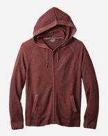 MEN'S MAGIC-WASH MERINO ZIP HOODIE IN RUST