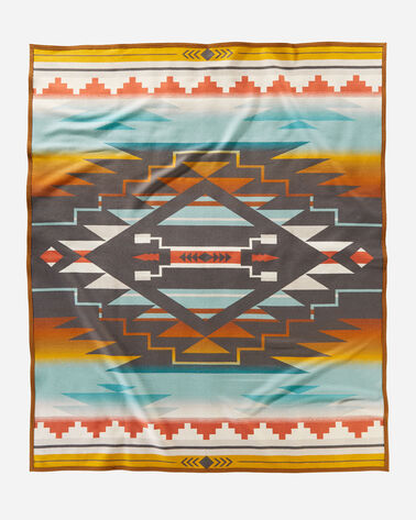 7 GENERATIONS BLANKET BACK VIEW IN TURQUOISE