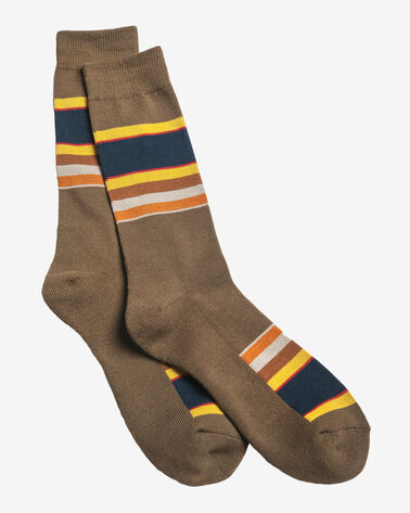 NATIONAL PARK STRIPE CREW SOCKS IN BADLANDS