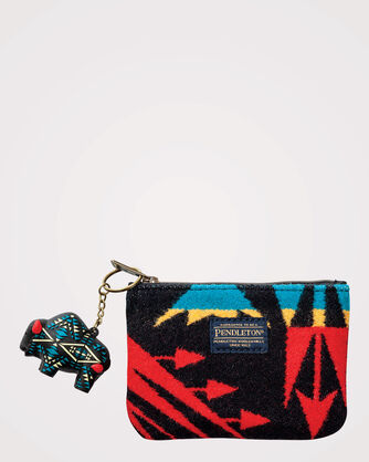 ECHO PEAKS ZIP POUCH WITH KEY CHAIN, , large