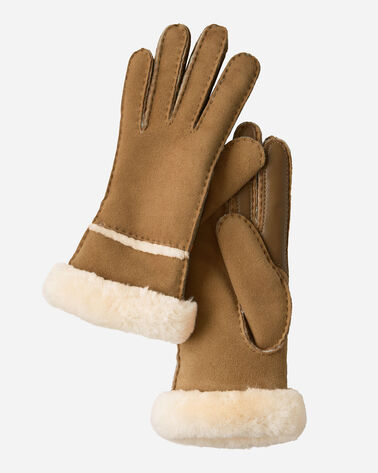 WOMEN'S UGG SHEEPSKIN SEAMED TECH GLOVES
