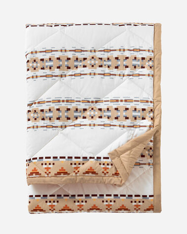 COTTON QUILTED THROW, PAINTED HILLS TAN, large