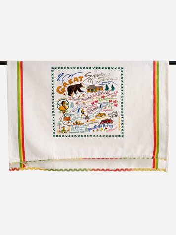 NATIONAL PARK EMBROIDERED DISH TOWELS IN SMOKY MOUNTAIN