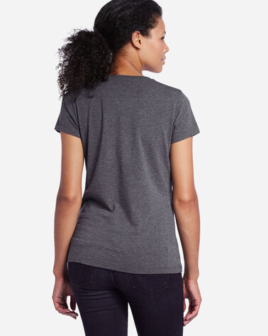 CANOE SILHOUETTE TEE, CHARCOAL HEATHER, large