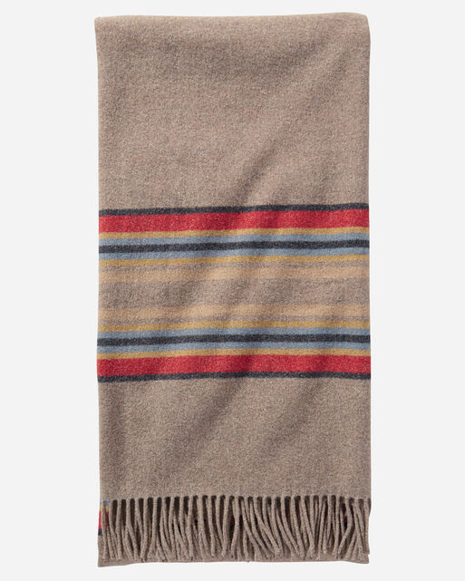 STRIPE 5TH AVENUE THROW, MINERAL UMBER, large