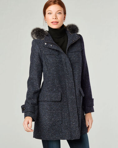 PENDLETON SIGNATURE PORTLAND COAT, NAVY/BLACK, large