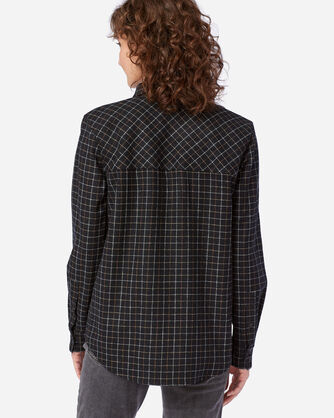 ALTERNATE VIEW OF WOMEN'S ULTRALUXE MERINO COOPER SHIRT IN BLACK MULTI WINDOWPANE