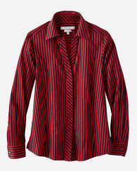 TAYLOR STRIPED SHIRT, RED/WHITE, large