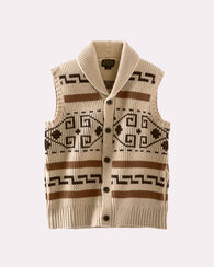 WESTERLEY SWEATER VEST, TAN/BROWN, large